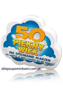 skarbonka życzenia 50 urodziny prezenty