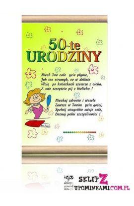 dyplom 50 urodziny życzenia