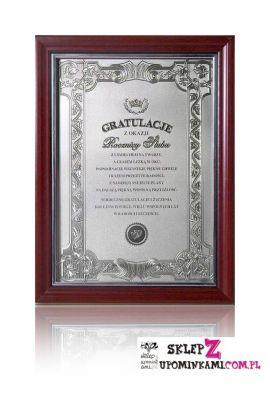 dyplom gratulacje z okazji rocznicy ślubu