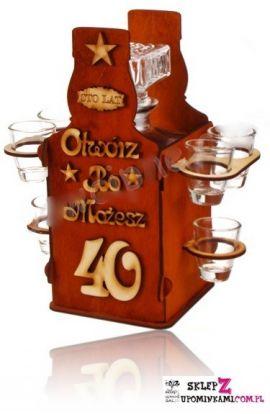 kieliszki na stojaku na 40 urodziny