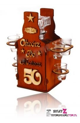 kieliszki butelka na 50 urodziny
