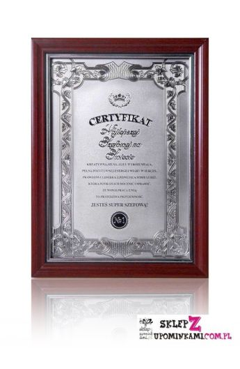 dyplom certyfikat szefowej