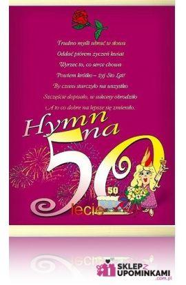 dyplom życzenia na 50 urodziny