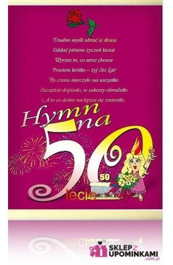 Dyplom życzenia 50 Urodziny Pani