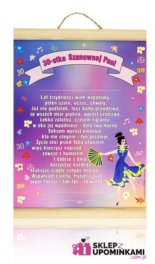 Dyplom Na 30 Urodziny Kobiety życzenia