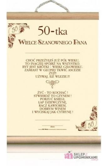 Dyplom życzenia Na 50 Urodziny Pana