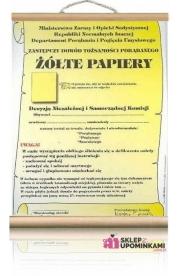 Dyplom Żółte Papiery wariata śmieszny prezent