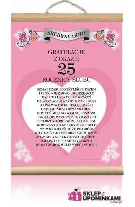 dyplom życzenia 25 rocznica ślubu