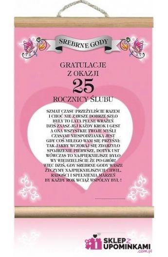 Dyplom Gratulacje 25 Rocznica ślubu