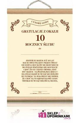 dyplom życzenia 10 rocznica ślubu