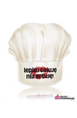 czapka kucharska z napisem
