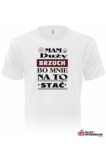 koszulka z napisem brzuch duży